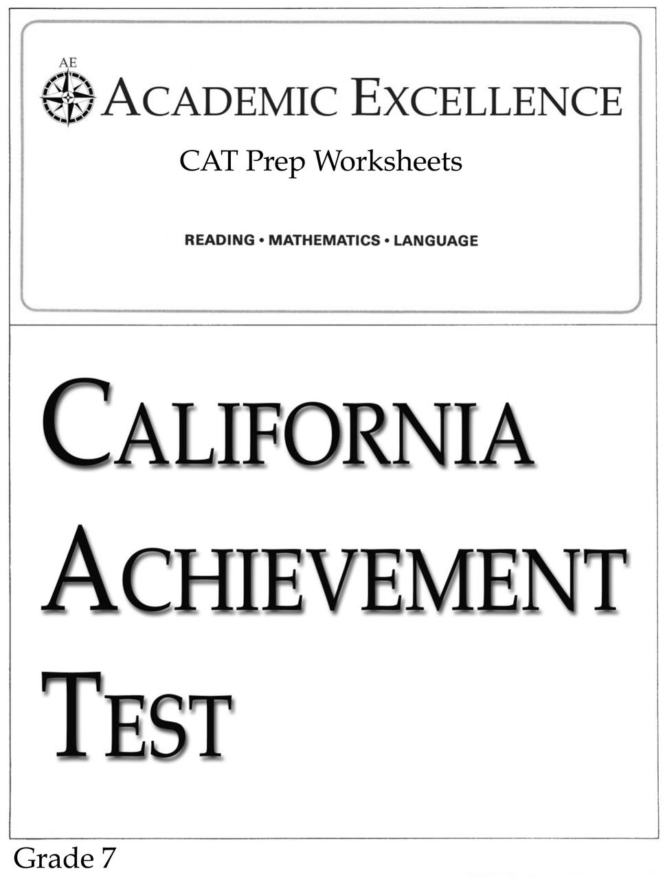 medium resolution of CAT Prep Pack: Grade 7 - PDF Download - Academic Excellence