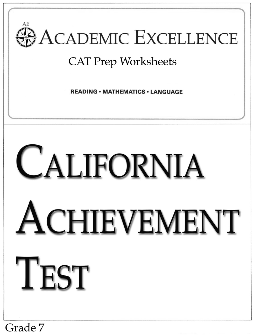 hight resolution of CAT Prep Pack: Grade 7 - PDF Download - Academic Excellence