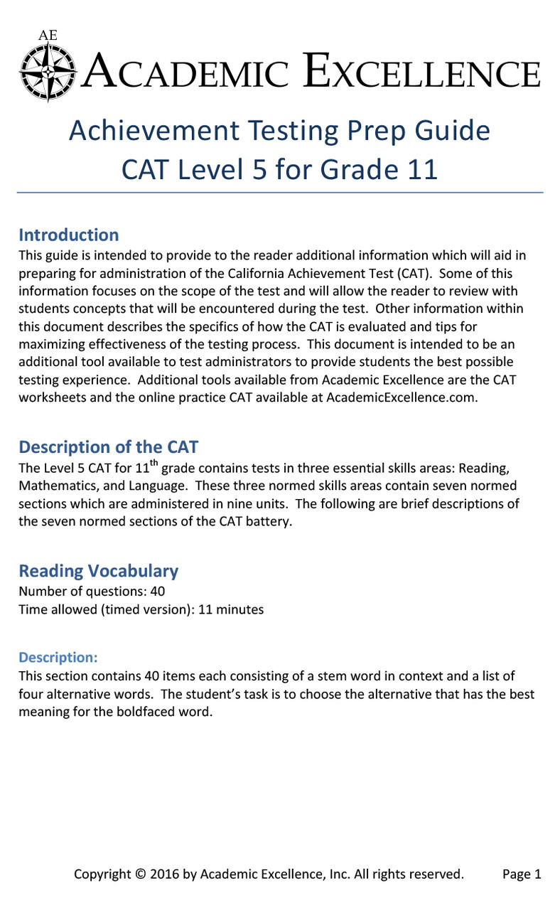 small resolution of CAT Prep Pack: Grade 11 - PDF Download - Academic Excellence