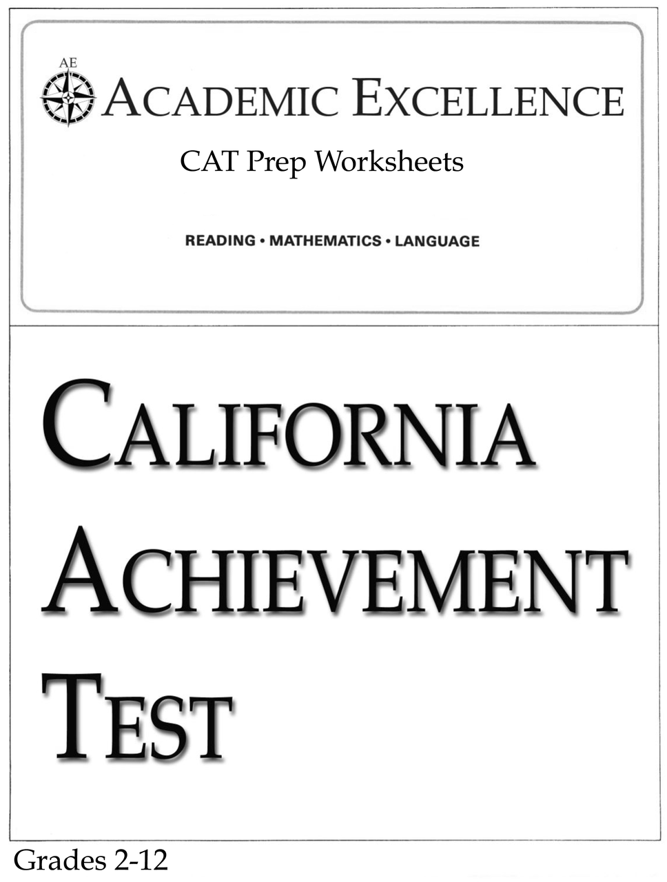 hight resolution of CAT Prep Pack: Grades 2 through 12 - PDF Download - Academic Excellence