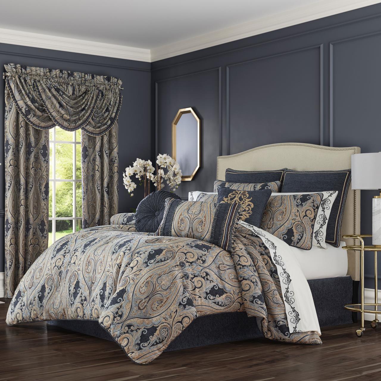 luciana indigo comforter collection by
