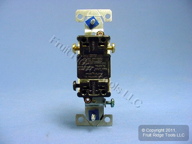 Cooper Wiring Devices Light Almond Toggle Wall Light Switch 3 Way