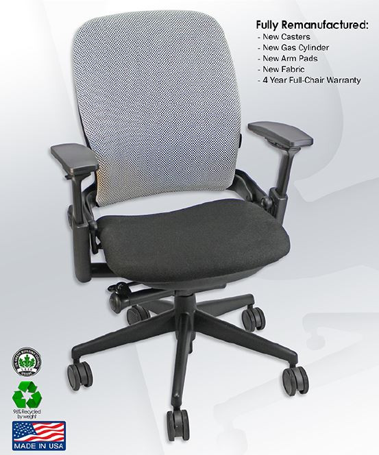 steelcase leap chair bar height adirondack chairs v2 ergonomic fully adjustable work remanufactured