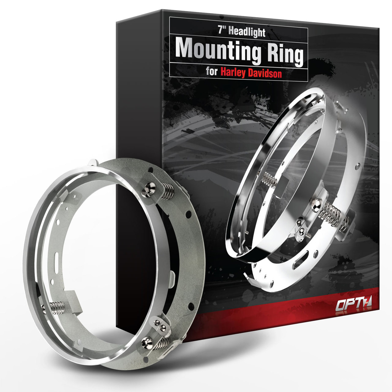 hight resolution of 7 inch led daymaker headlight mounting ring bracket for harley davidsons opt7