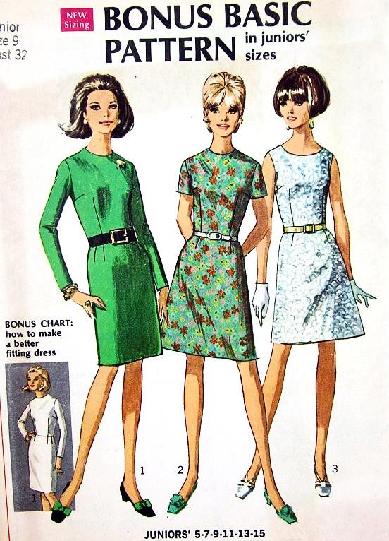 Basic Dress Pattern : basic, dress, pattern, 1960s, Basic, Dress, Pattern, Bodices, Skirts, Simplicity, Vintage, Sewing, UNCUT, Ladies