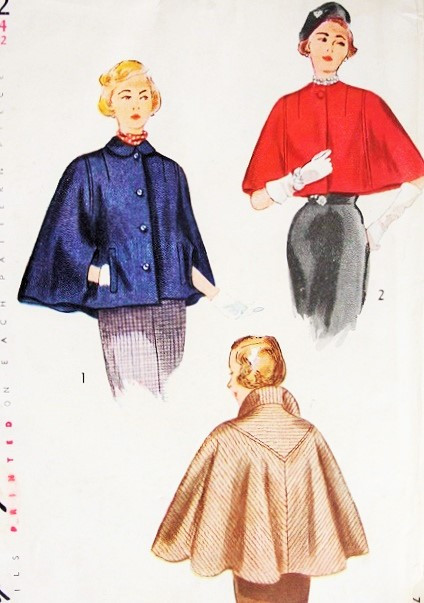 Simplicity Cloak Pattern : simplicity, cloak, pattern, 1940s, ELEGANT, Lengths, Pattern, SIMPLICITY, Unique, Shaped, Classy, Cloak, Capelet, Evening, Vintage, Sewing, Ladies