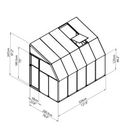 rion greenhouses sunroom 6x10 drawing isoview jpg  [ 2480 x 2480 Pixel ]