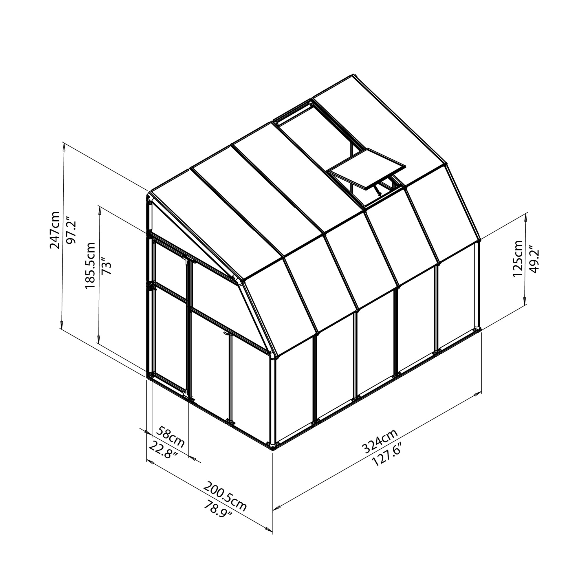 hight resolution of rion greenhouses sunroom 6x10 drawing isoview jpg
