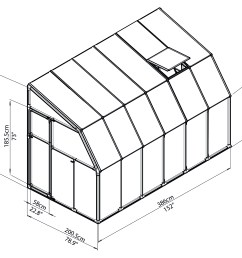 rion greenhouses sunroom sunlounge 6x12 drawing isoview jpg [ 2598 x 2362 Pixel ]