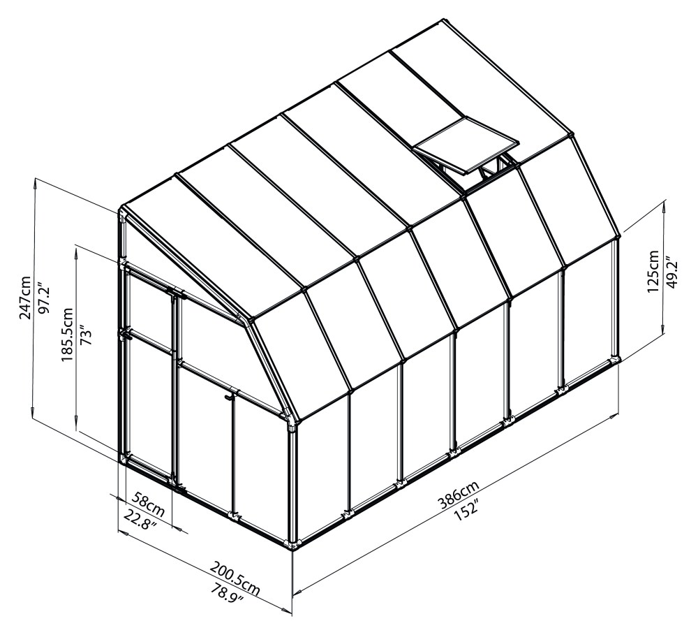 medium resolution of  rion greenhouses sunroom sunlounge 6x12 drawing isoview jpg