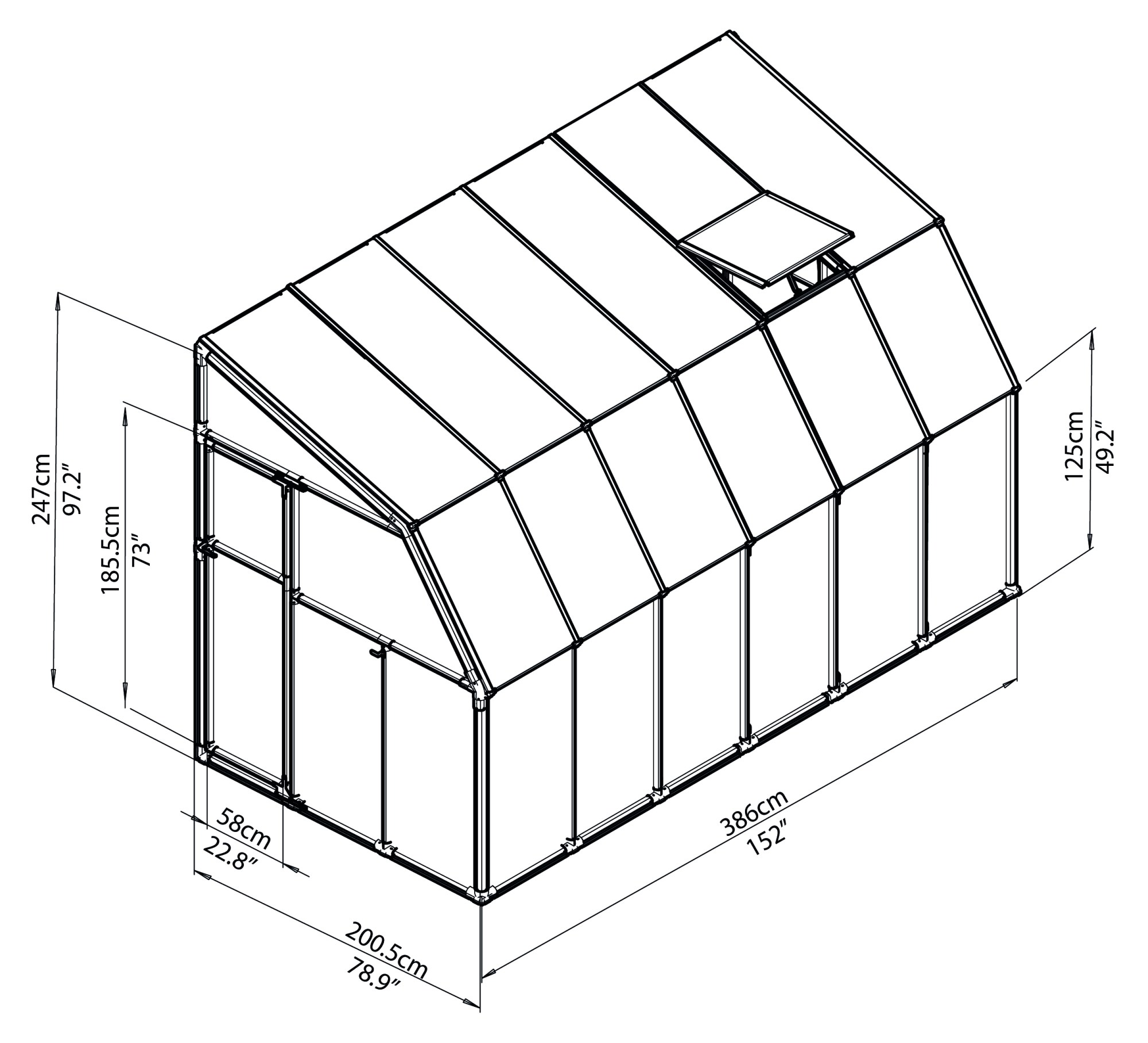 hight resolution of  rion greenhouses sunroom sunlounge 6x12 drawing isoview jpg