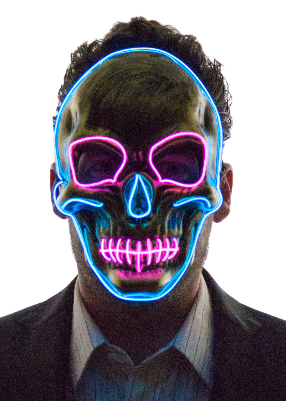 glowing skull face mask