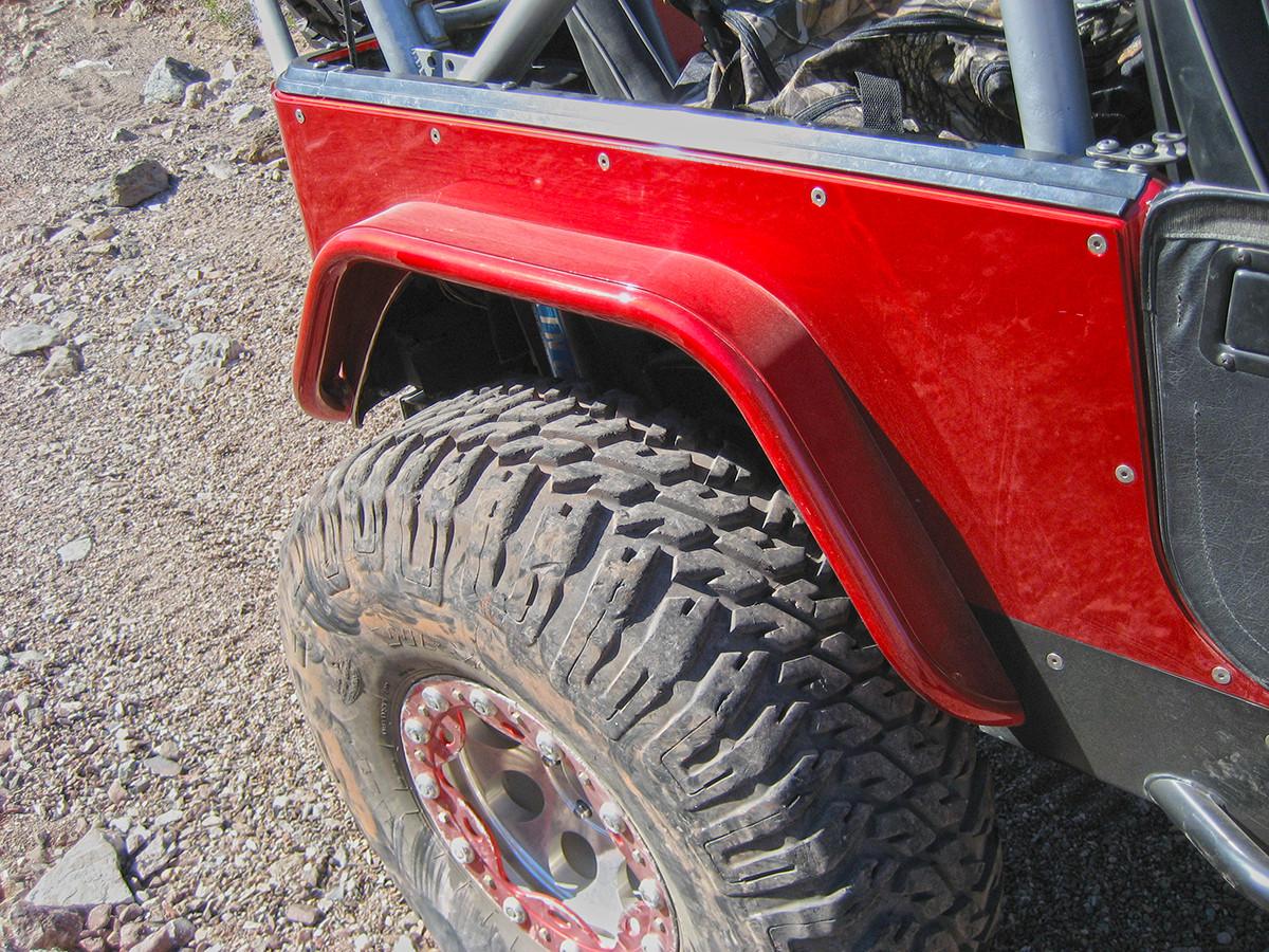 small resolution of jeep tj lj yj cj 4 flare rear tube fenders steel