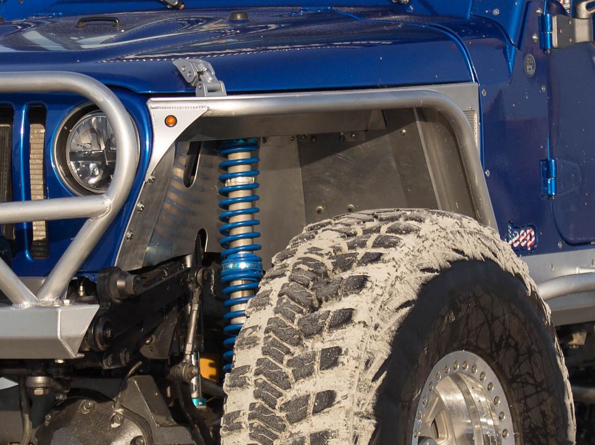 jeep tj lj 4 flare front hi fenders aluminum [ 1200 x 899 Pixel ]