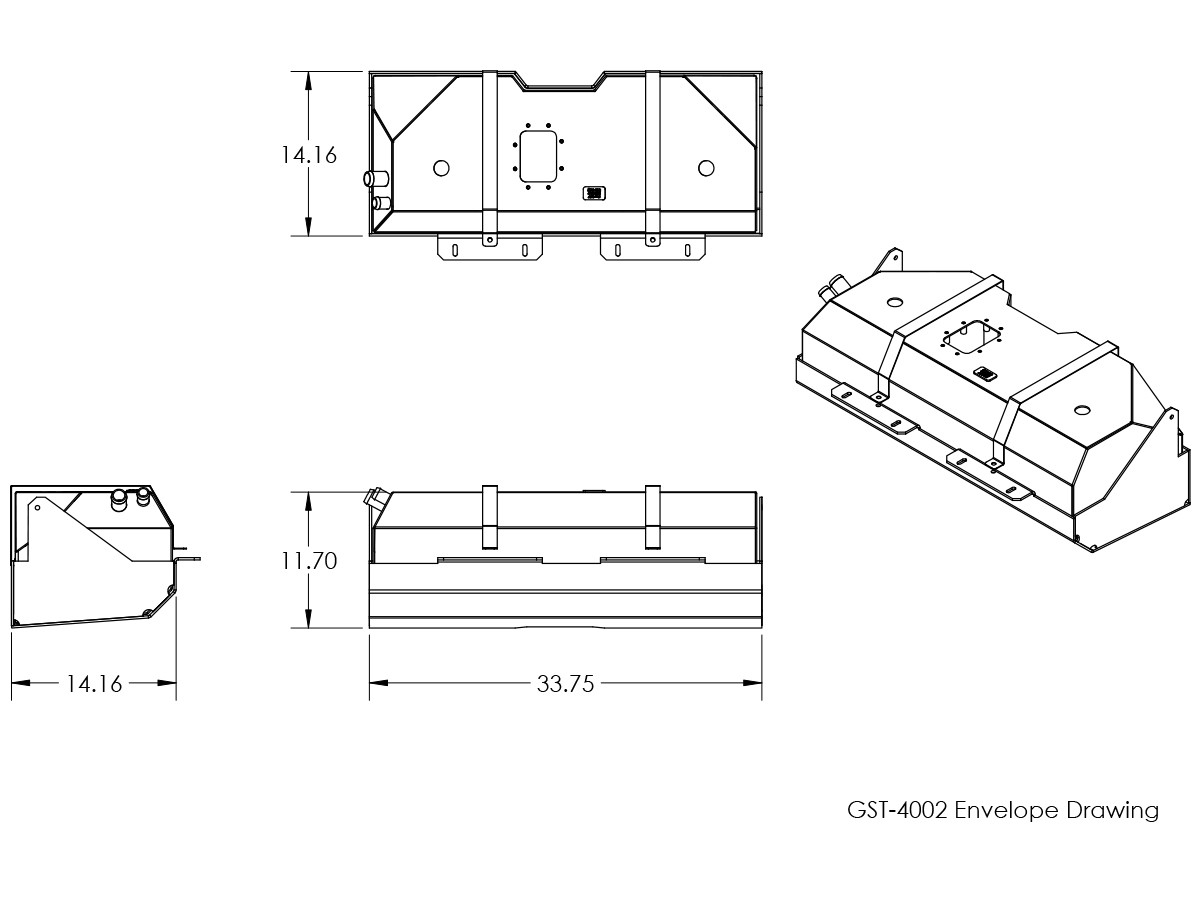 basic dimensions for gst 4002 genright jeep yj gas tank ext  [ 1200 x 900 Pixel ]
