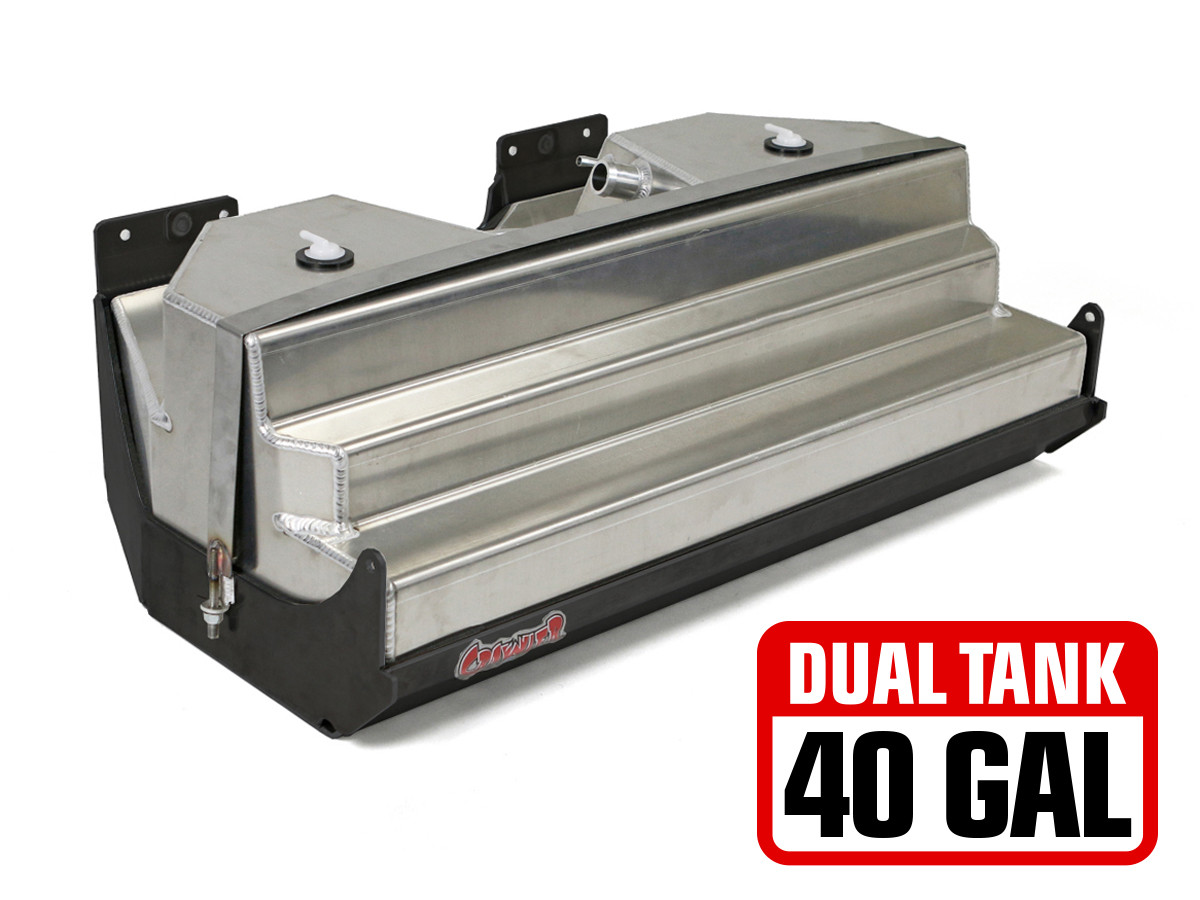 hight resolution of gst 8202 2 jeep jk 20 gal dual gas tank steel skid plate 40 gal total capacity