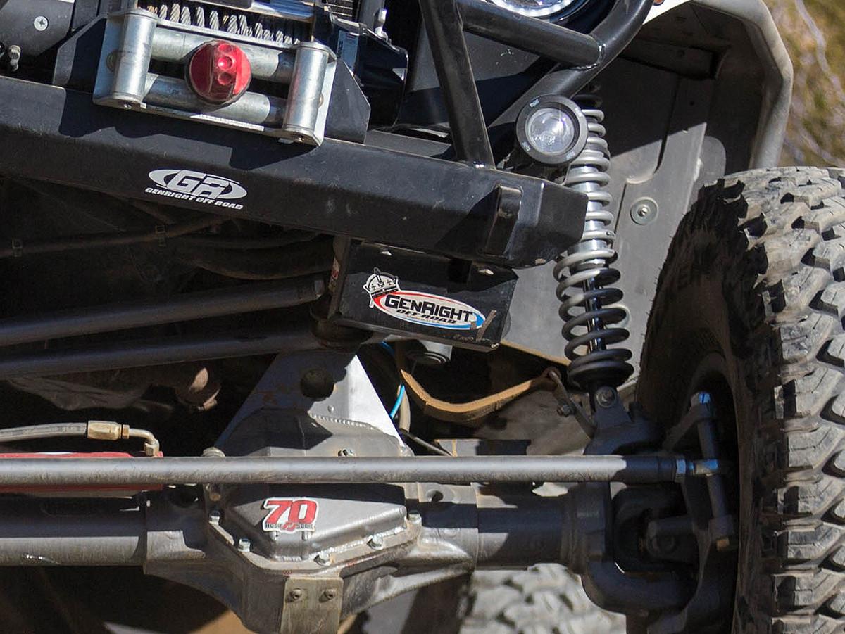 medium resolution of jeep tj lj steering box skid plate image 2