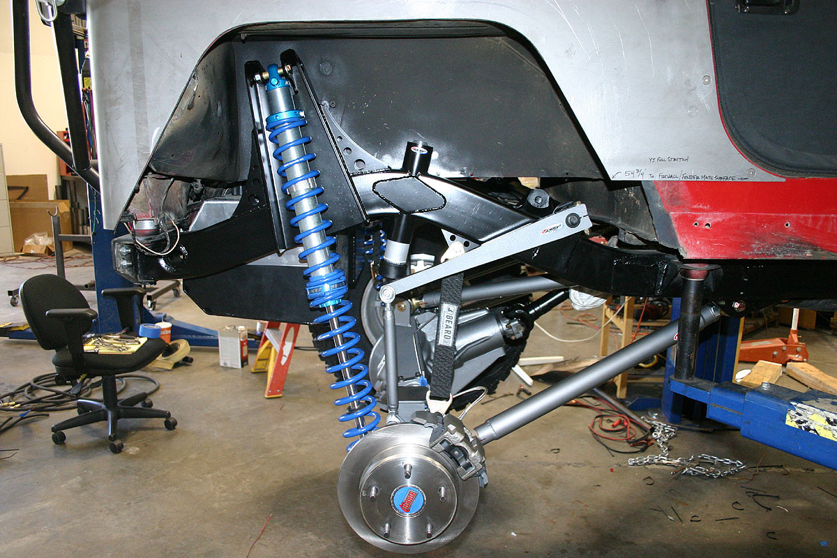 medium resolution of  jeep rear sway with coil over shock at full droop