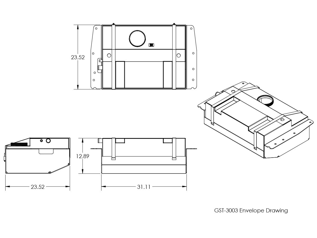 small resolution of  line drawing and dimensions for genright off road xj extended range gas tank skid plate