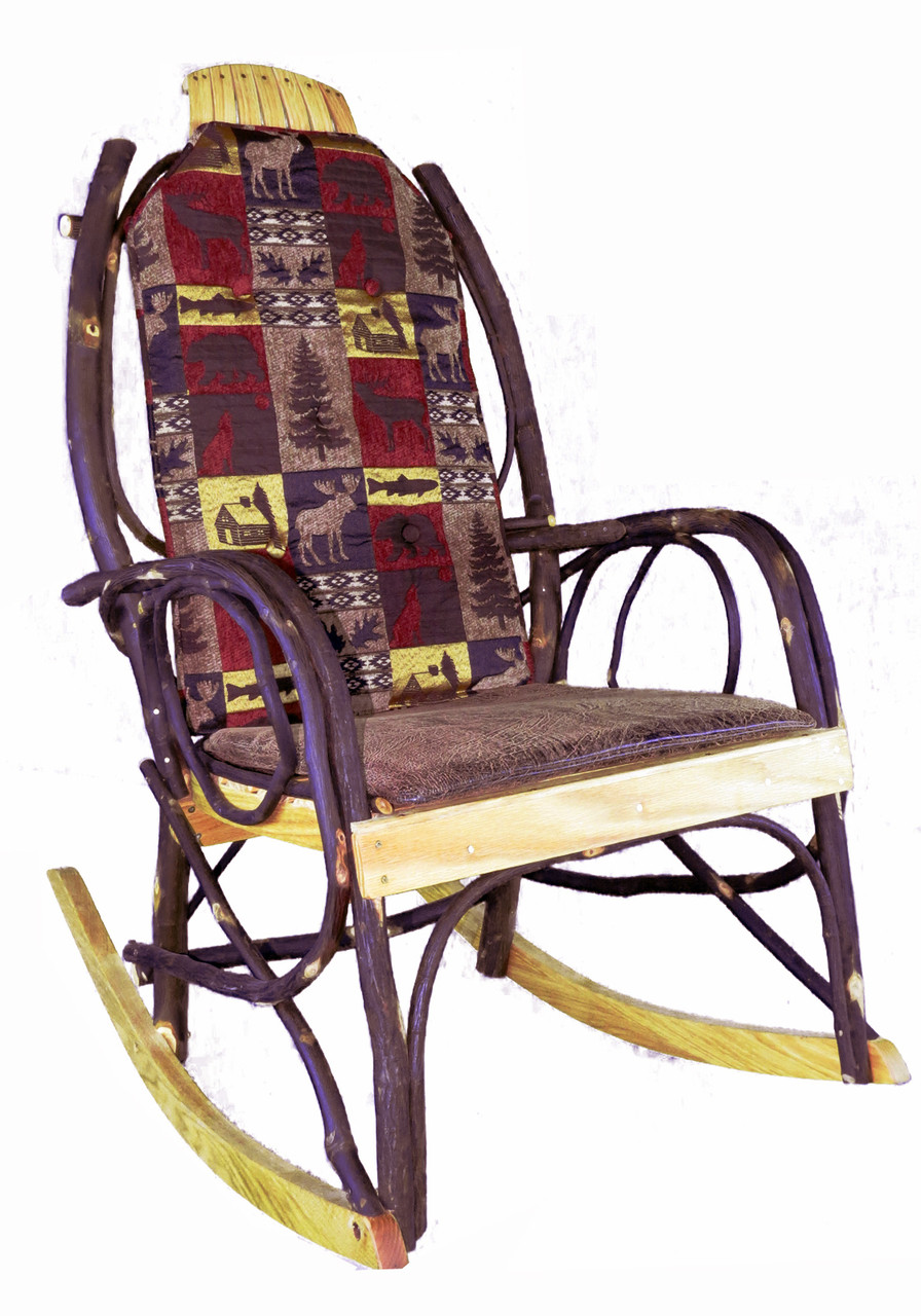 Amish Rocking Chair Amish Bentwood Rocker Cushion Set Red Cabin Fabric
