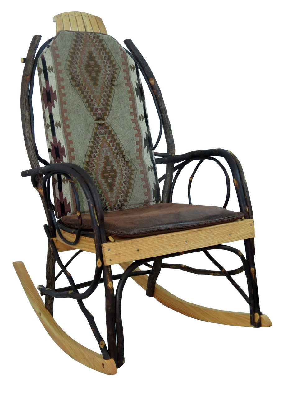 Amish Rocking Chair Amish Bentwood Rocker Cushion Set Apache Fabric