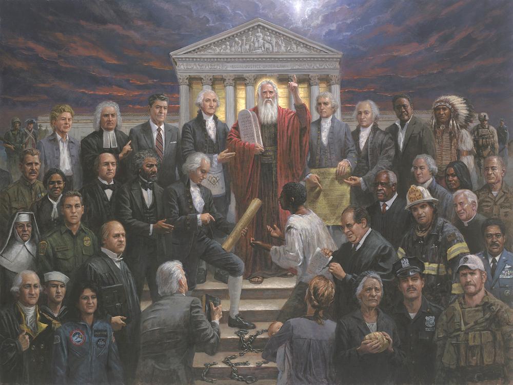 American Wallpaper Fall River Patriotic Americana Justice For All Mcnaughton Fine Art