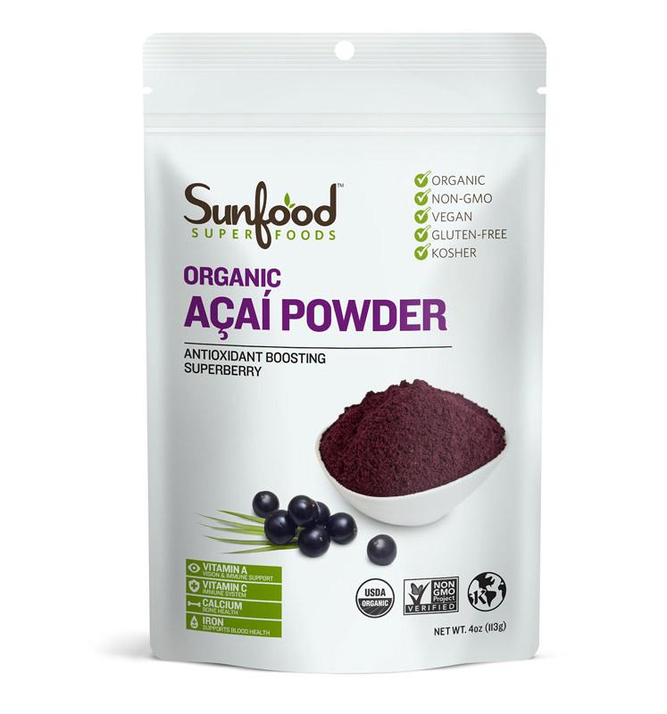 Buy Amazon Acai Powder 4 oz (113 g) Sunfood Online ...