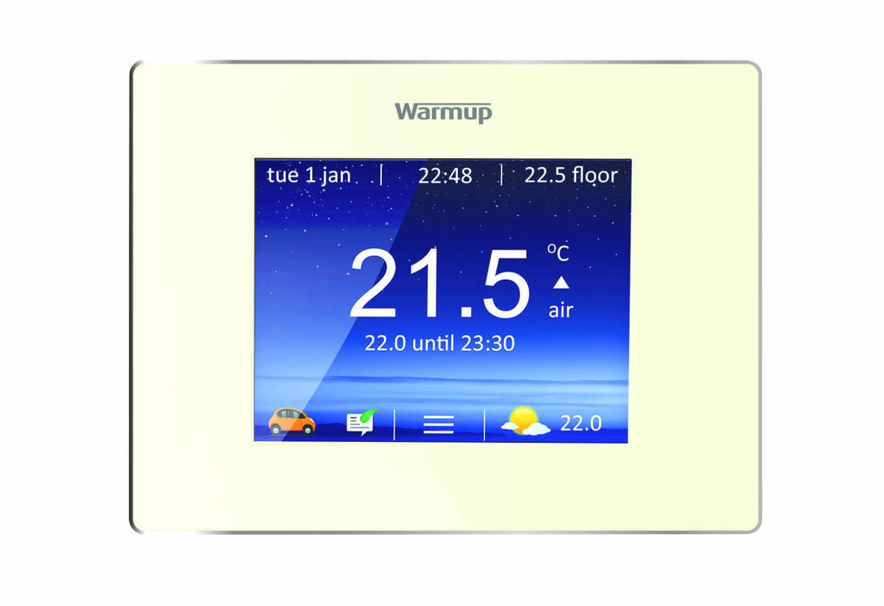 hight resolution of  warmup underfloor heating smart digital 4ie thermostat bright porcelain image 1