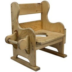 Wooden Potty Chair Rocking Swivel Chairs Living Room Original Baby Shower Gifts Dnlwoodworks Com