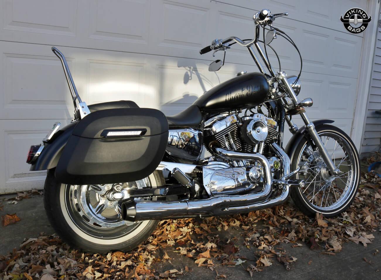 daniel s harley davidson sportster 1200 custom w lamellar hard saddlebags  [ 1301 x 956 Pixel ]