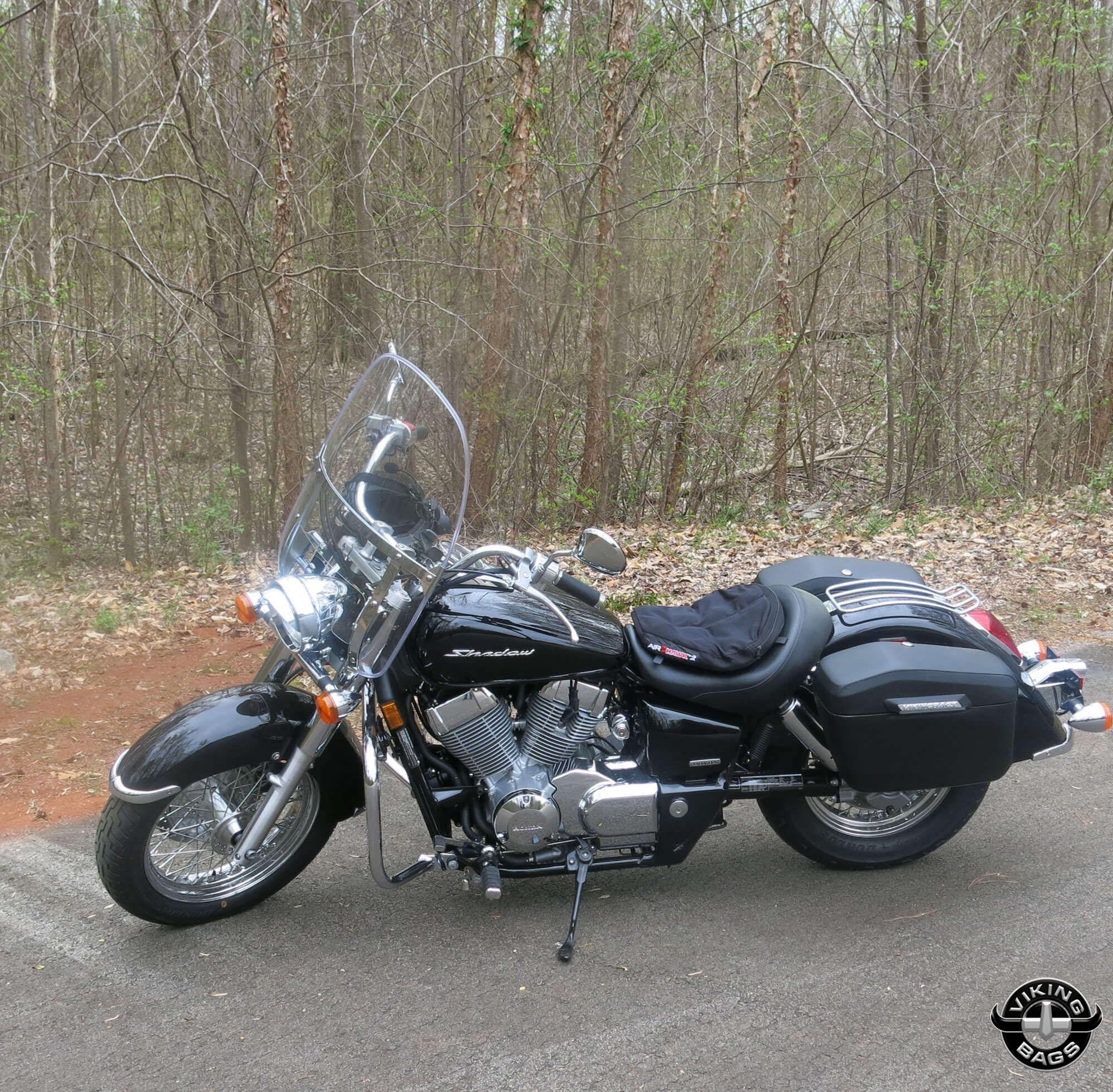 stephen s 13 honda shadow w lamellar hard motorcycle saddlebags  [ 2000 x 1963 Pixel ]