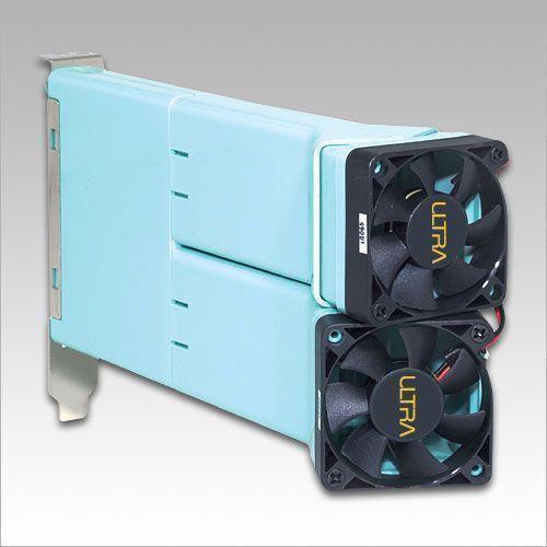 ultra pc vent ii w 2x45mm fan pci slot system exhaust