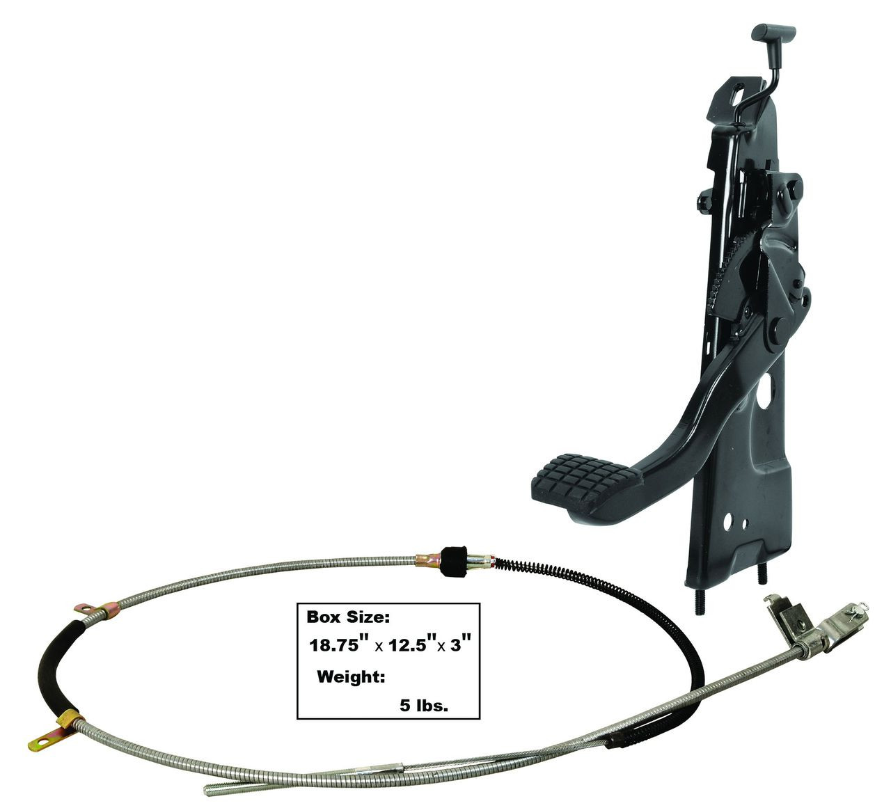 medium resolution of this emergency brake assembly comes with pedal arm pedal pad return spring release
