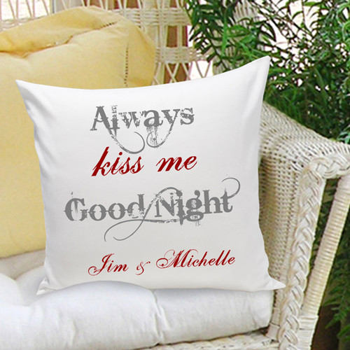 personalized anniversary pillow always