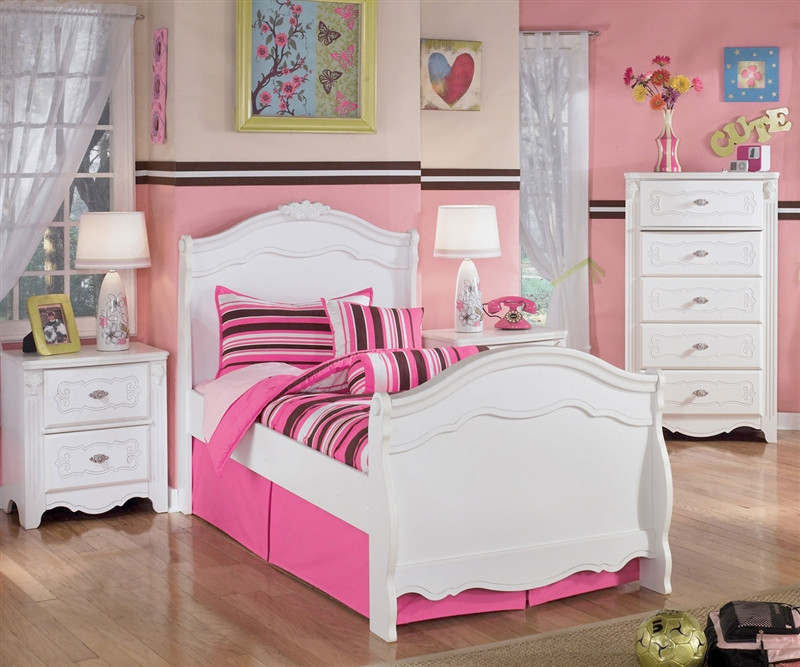 exquisite twin sleigh bed ashley furniture asb188 6263n