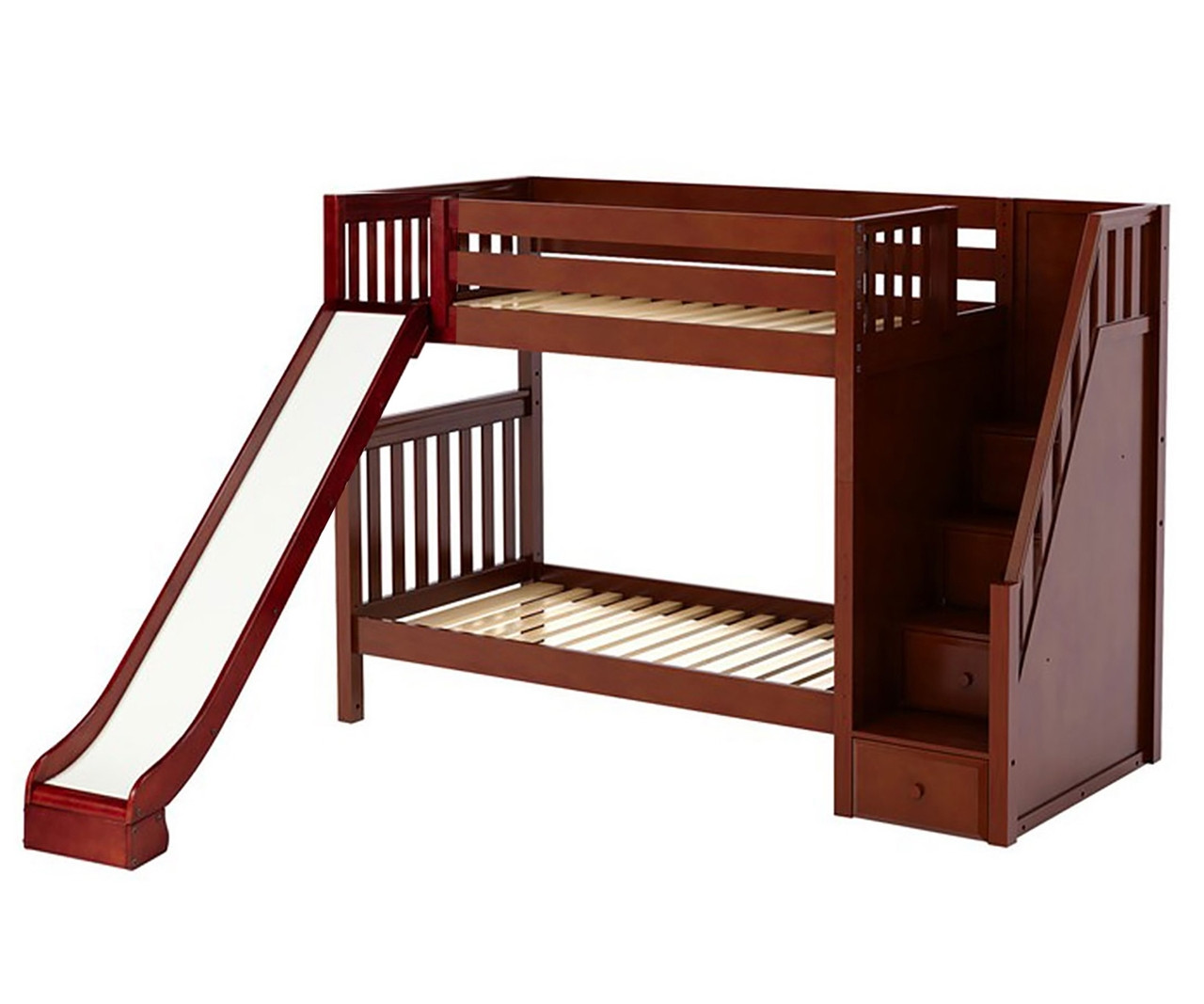 Maxtrix ECSTATIC Medium Bunk Bed with stairs and Slide ...