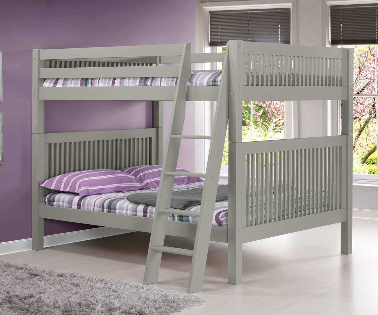 Camaflexi Full Over Full Bunk Bed In Grey E1614a Camaflexi Furniture Solid Wood Kids Furniture