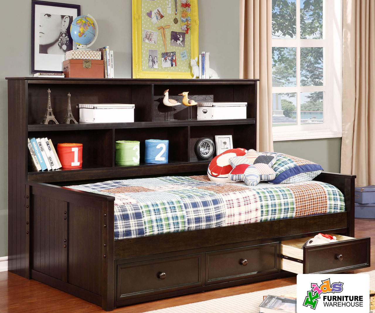 Allen House Bookcase Captains Daybed Twin Size Graphite