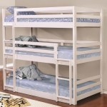 Coaster Sandler Triple Bunk Bed Twin Size White 401302 Coaster Furniture Kids And Teens Bunk Beds