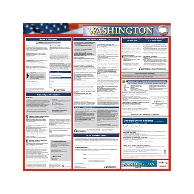 washington state only poster