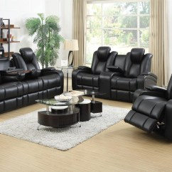 Sofa And More Cream Recliner Set Delange Power Reclining Led Usb Add Love Seat Image 1