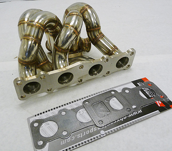 obx turbo manifold header for 2009 2012 hyundai genesis coupe 2 0t t4 top mount