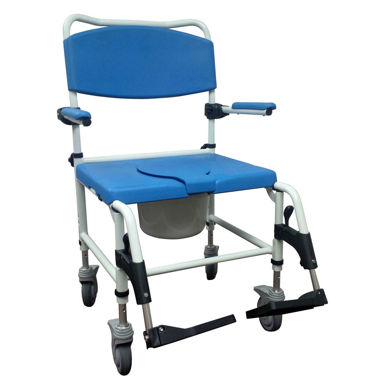 Bariatric Lift Chair Bariatric Aluminum Rehab Shower Commode Chair With Two Rear Locking Casters By Drive