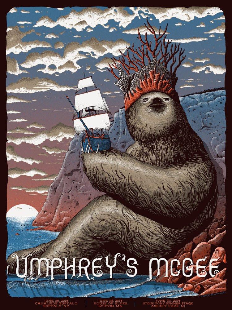 umphrey s mcgee 2018 buffalo boston asbury park neal williams poster