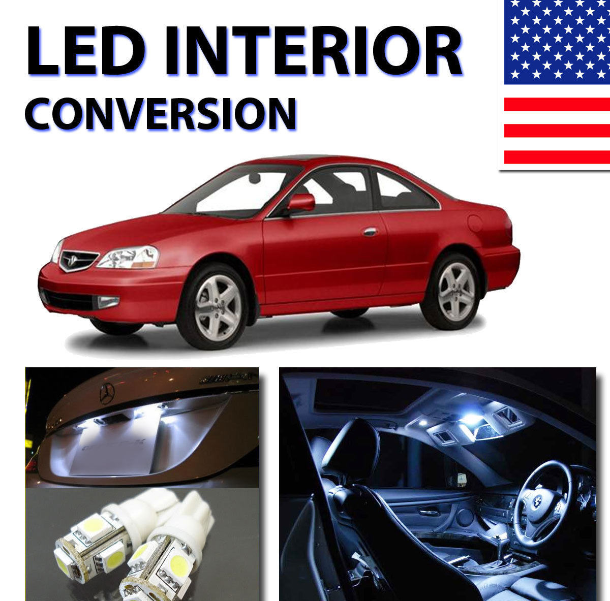 led interior kit for acura cl 2001 2003 price 34 99 image 1 [ 1200 x 1183 Pixel ]