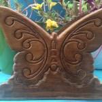 Butterfly Garden Vintage Wooden Napkin Holder Butterflymama