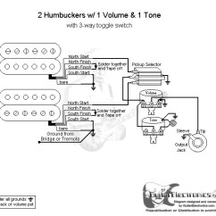 Guitar Wiring Diagram 2 Pickup 1 Volume Tone For Fuel Pump Relay Humbuckers 3 Way Toggle Switch Click To Enlarge