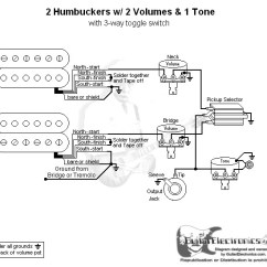 Guitar Wiring Diagram 2 Pickup 1 Volume Tone Att Uverse Home Humbuckers 3 Way Toggle Switch Volumes Click To Enlarge