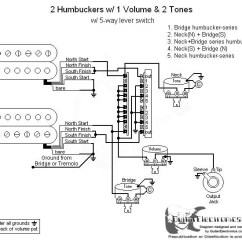 Guitar Output Jack Wiring Diagram Of Window Type Air Conditioning 2 Humbuckers 5 Way Lever Switch 1 Volume Tones 05 Click To Enlarge
