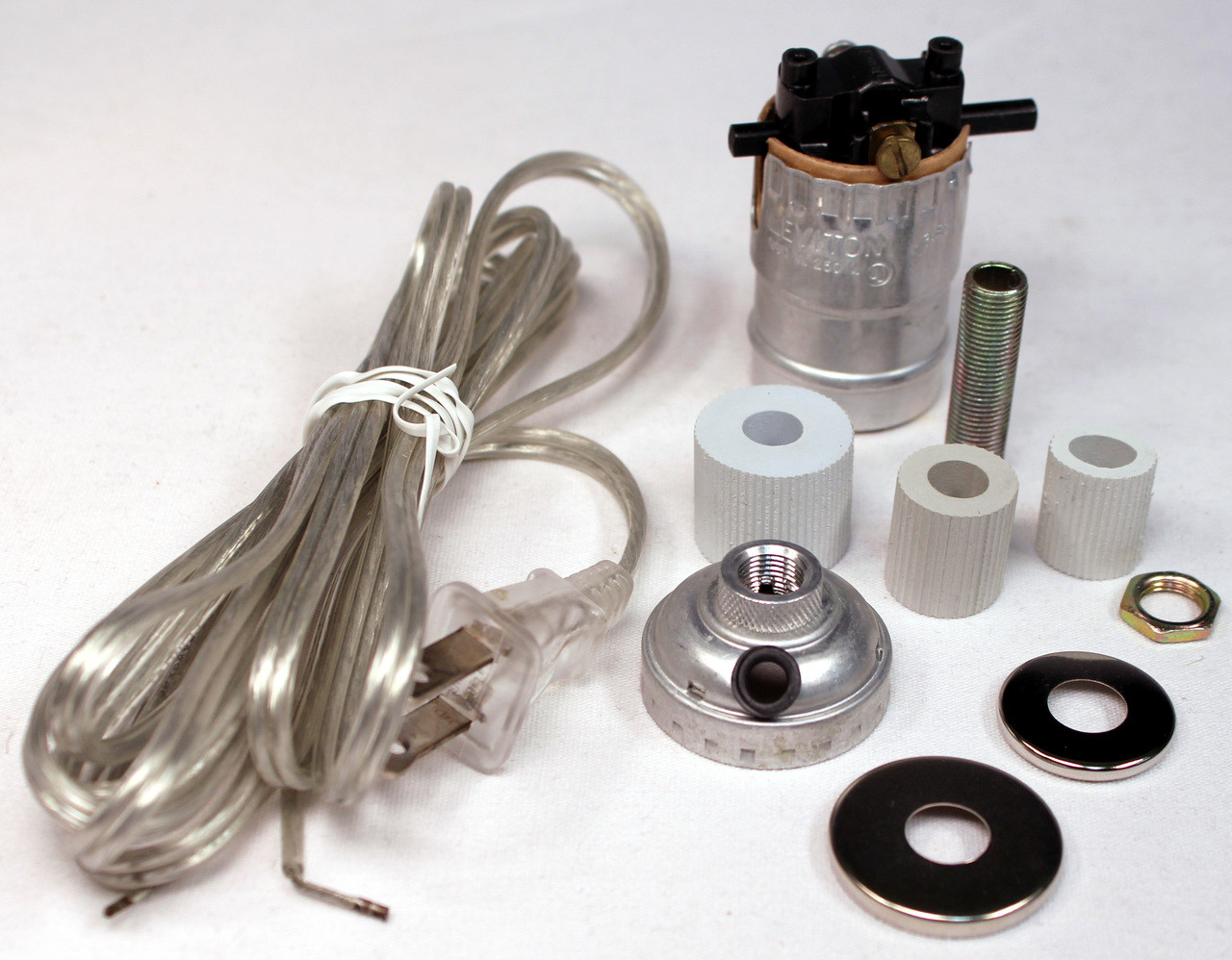 hight resolution of creative hobbies silver finish bottle lamp adapter kit with 3 wire a bottle lamp kit